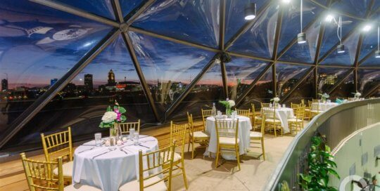 Conservatory balcony. Photo by Conservatory Complete Weddings + Events.