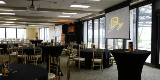 A meeting setup in the DuPont Room.