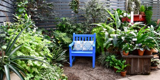 Take a seat in this cozy corner of the Gardeners Show House for a relaxing break.
