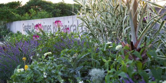 The EMC Insurance Companies Entry Garden on July 3. Photo by Kelly Norris.